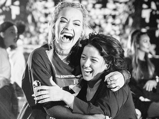 Rita Ora and Lauren Murray