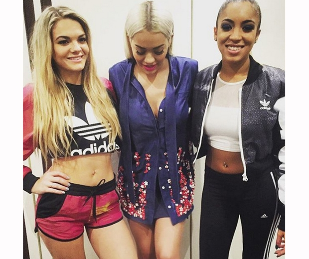 rita ora with the girls category on x factor