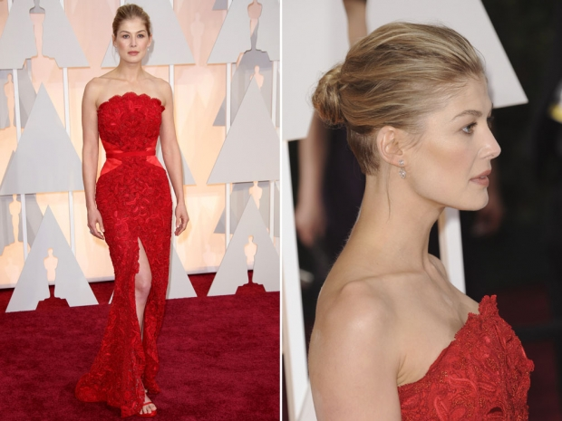 Rosamund Pike at the 2015 Academy Awards.