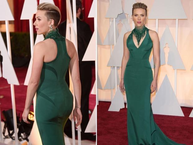 Scarlett Johansson at the 2015 Academy Awards.