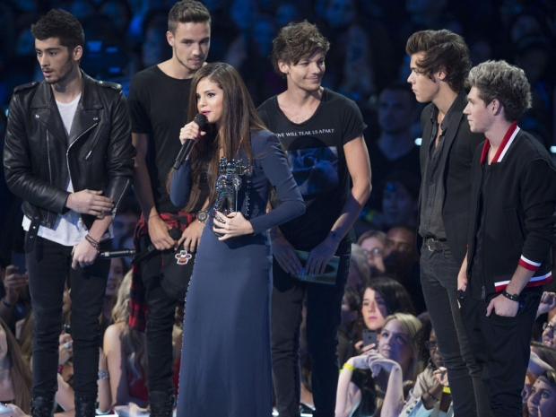 Selena Gomez and One Direction