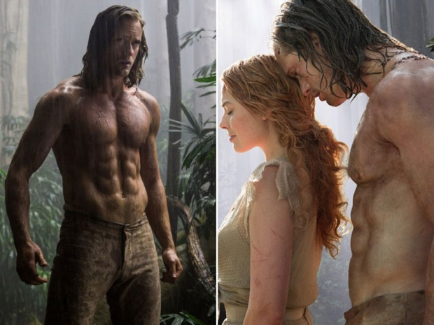 Alexander Skarsgard and Margot Robbie in The Legend Of Tarzan