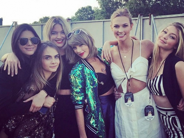 Taylor Swift's squad in Hyde Park.