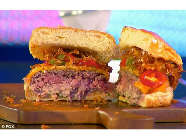 The burger that won Gigi the top spot (picture from Fox)