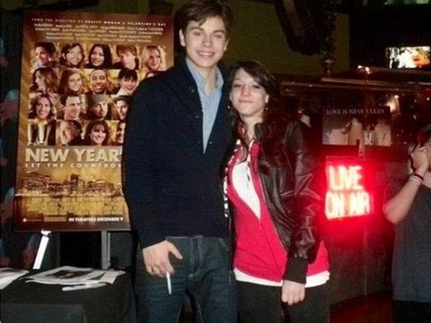 Jake T. Austin and Danielle Caesar at a signing in New York, 2011