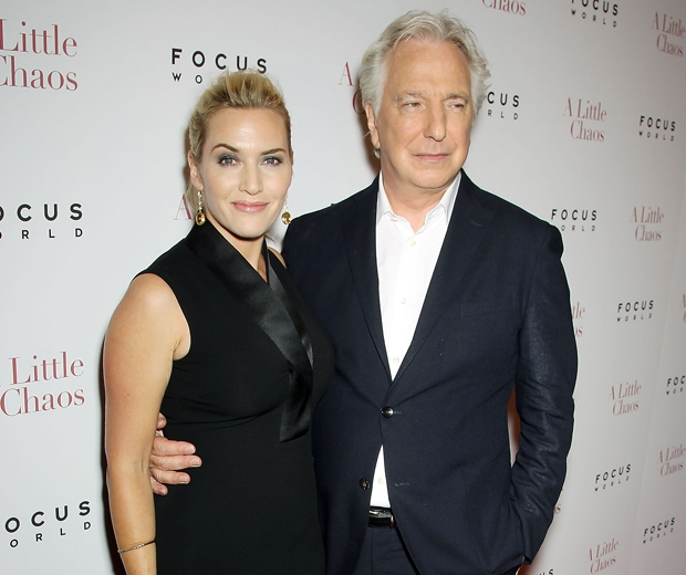 Alan Rickman and Kate Winslet at the Focus premiere in 2015