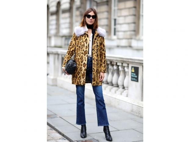 Alexa Chung Leopard Coat