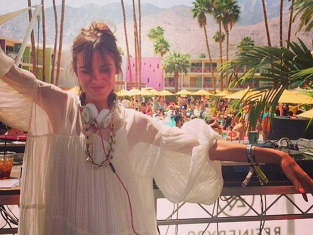 Alexa Chung at Coachella 2015.