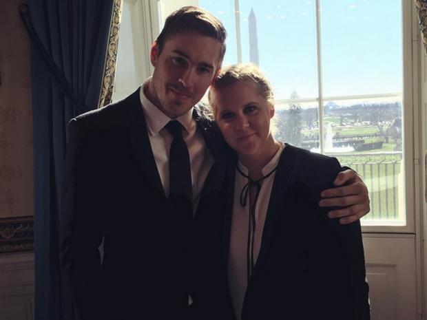 Amy Schumer with her boyfriend Ben Hanisch