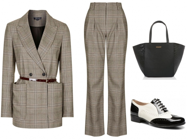 Topshop's checked two-piece is the perfect office ensemble.