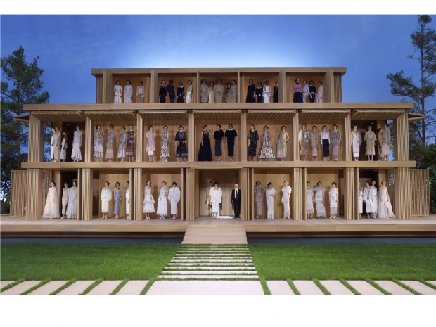 Chanel's wooden house at the spring/summer couture show 2016