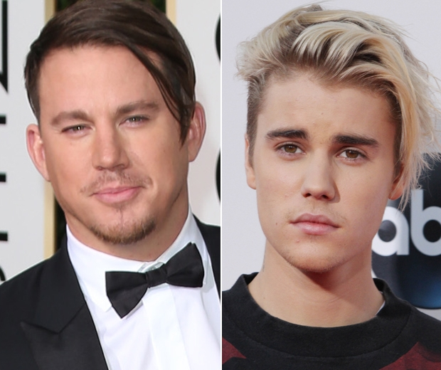 channing tatum hair golden globes justin bieber