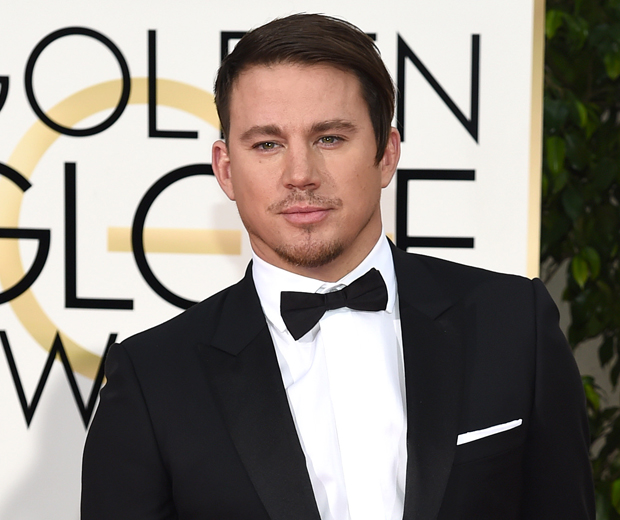 Channing Tatum's hair was the talk of the Golden Globes last night...