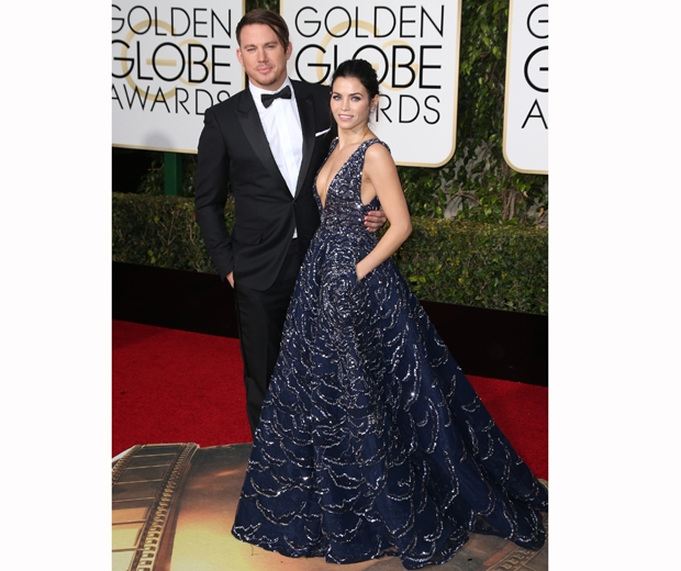 channing and jenna dewan tatum at the golden globes