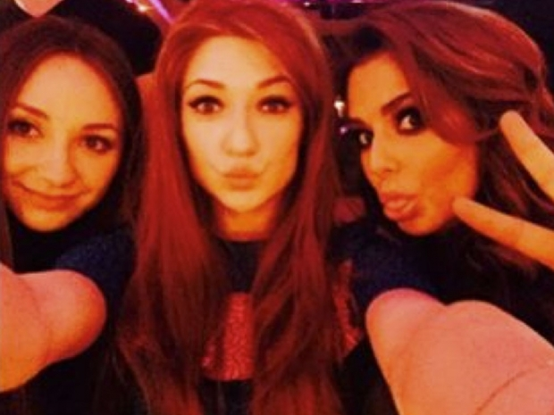 Cheryl Fernandez-Versini and Nicola Roberts at Kimberley Walsh's hen do