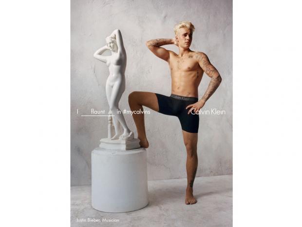 Justin Bieber Calvin Klein campaign