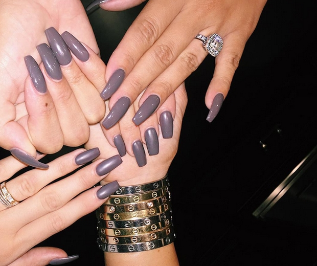 Kylie jenner sparks the cult coffin nails trend look so what are they well the clues kind of in the name the style is similar to a stiletto design but more square and a basic french manicure prinsesfo Gallery