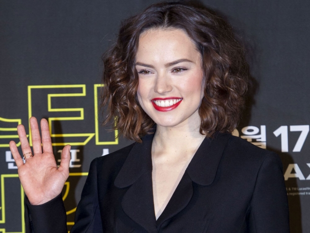 Daisy Ridley on the red carpet.