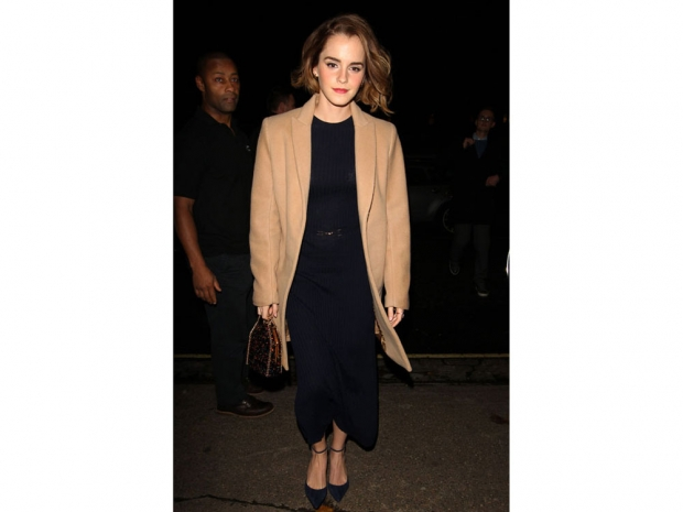 Emma Watson looking very workwear ready.