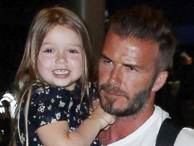 Harper Beckham and David Beckham