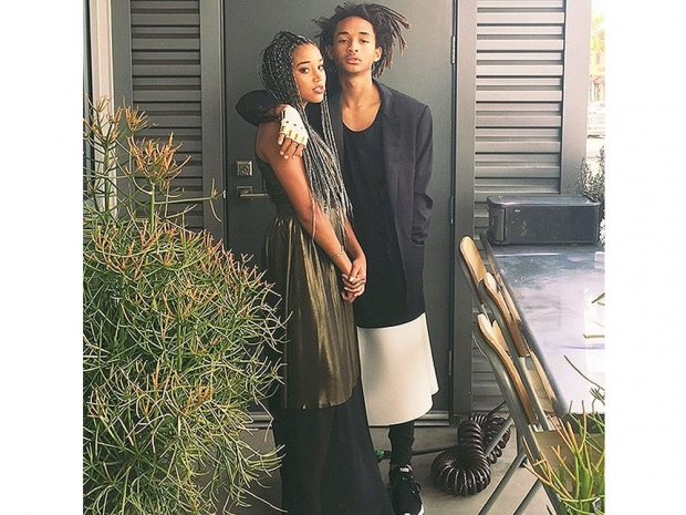 Jaden Smith wearing a skirt to his prom.