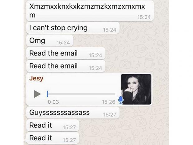 Jesy Nelson's texts