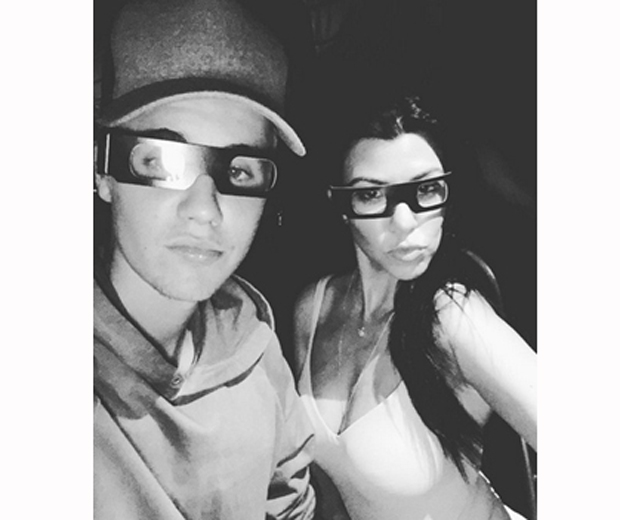 justin bieber and kourtney kardashian