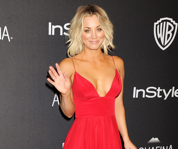 Kaley Cuoco sizzled at the Golden Globes InStyle after party in this red dress