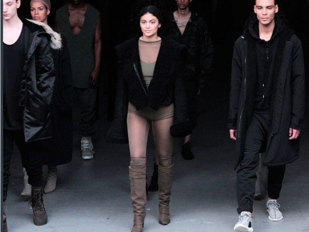 kylie jenner for kanye west at new york fashion week