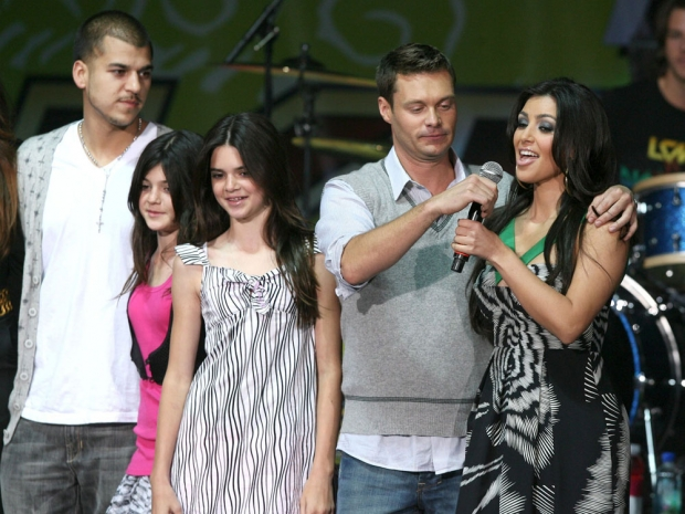 Kardashian family at Wango Tango 2008