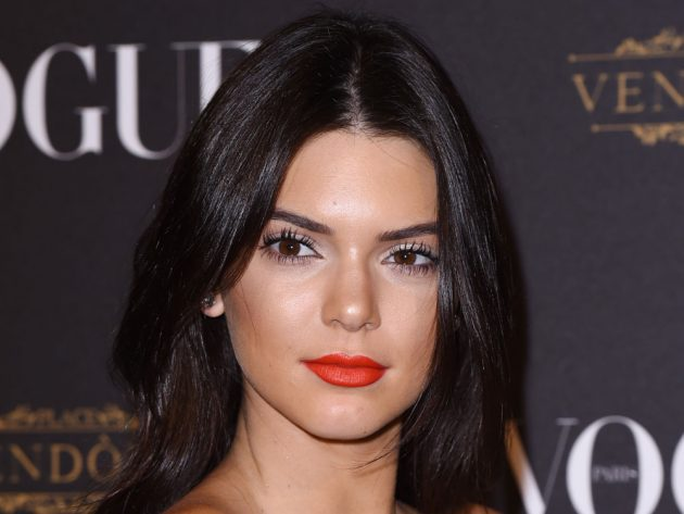 Kendall Jenner's eyes are naturally brown