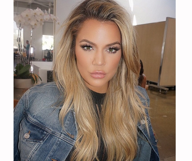 khloe kardashian blonde hair