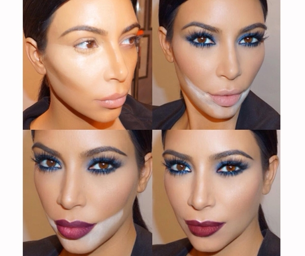 Kim Kardashian's contour make-up