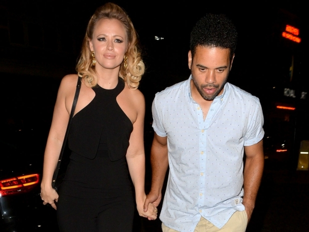 Kimberley Walsh and Justin Scott