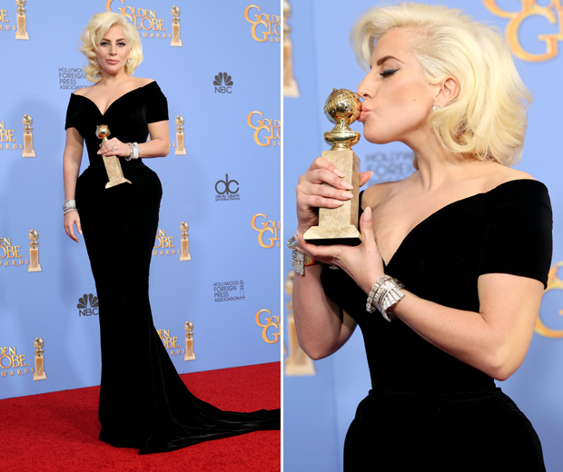 Lady Gaga won Best Supporting Actress at the 2016 Golden Globes