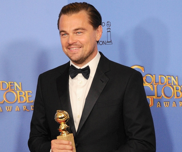 Leonardio DiCaprio also scooped a golden Globe for Best Actor this year