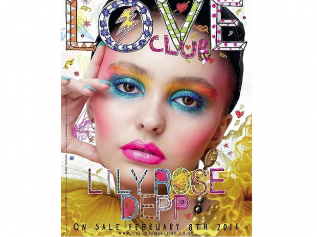 Lily Rose Depp on the cover of LOVE magazine.