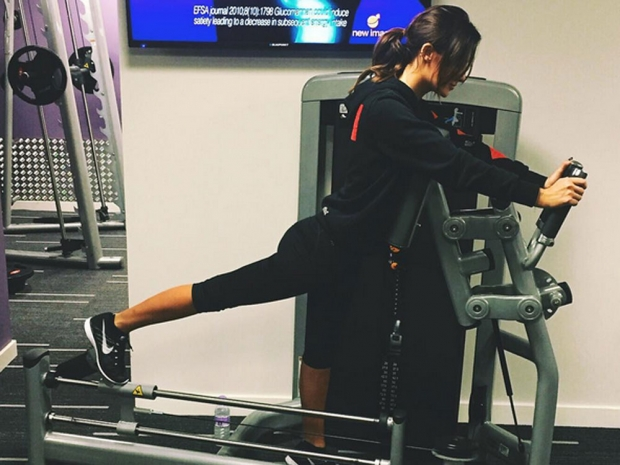 Lucy Watson working out