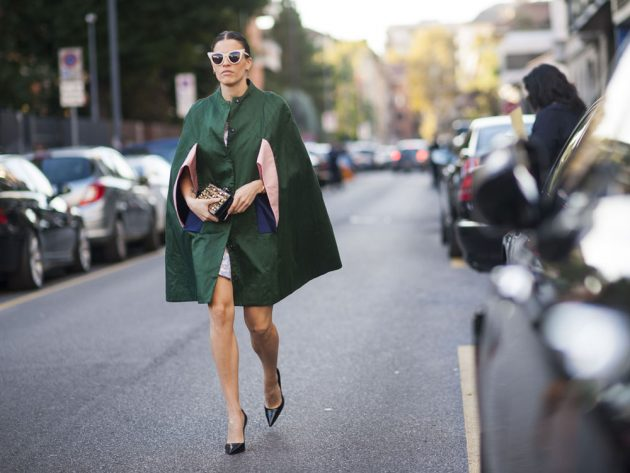 Expect capes to be all over the street style set come fashion week.