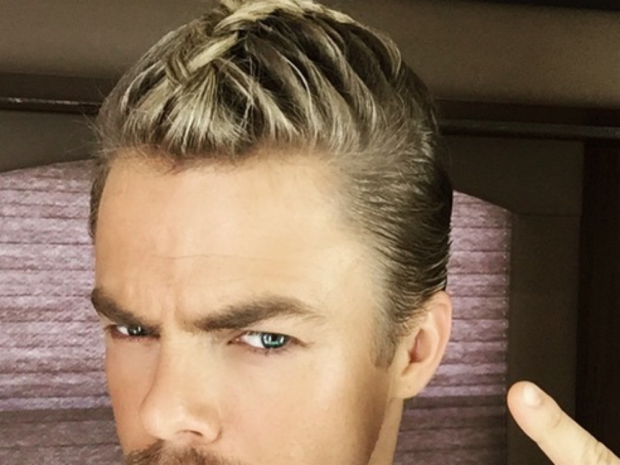 Man Braid: Derek Hough has given the trend a go