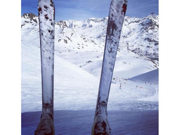 Mark Wright's skis