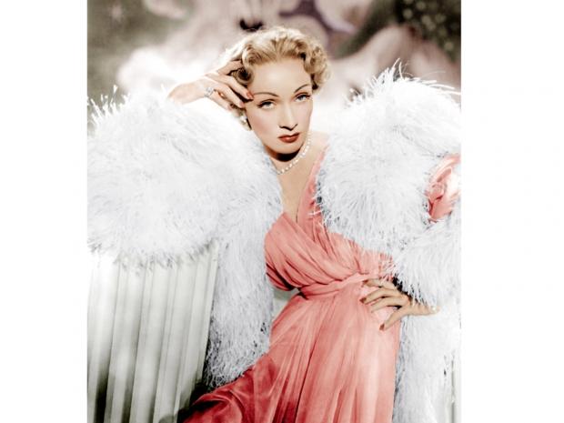 Marlene Dietrich wearing Dior