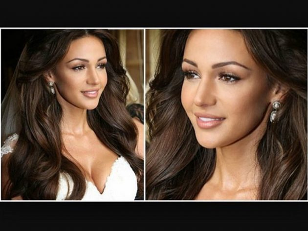 Michelle Keegan went for a classic bridal look