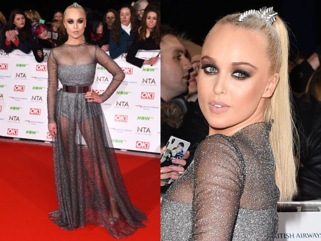 Jorgie Porter did space chic at the NTAs