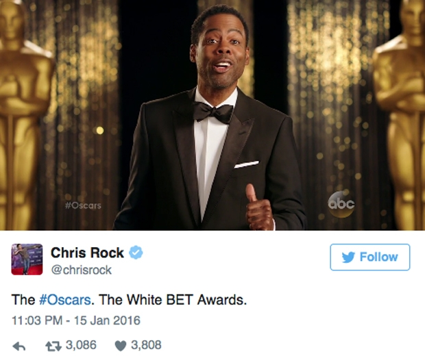 Chris Rock is hosting the Oscars this year...
