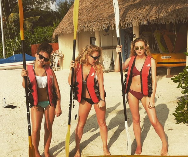 perrie edwards maldives holiday