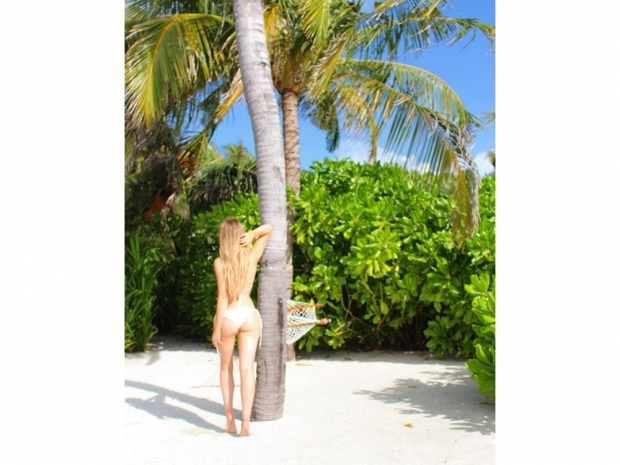 Perrie Edwards in the Maldives