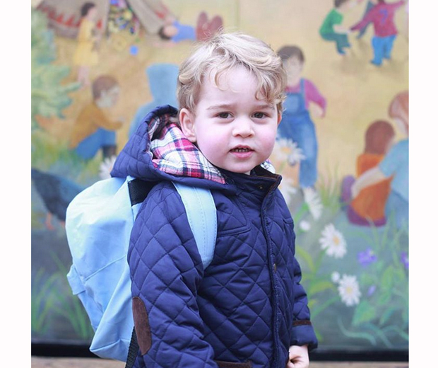 Kate Middleton has shared this adorable pictures of Prince George's first day at school