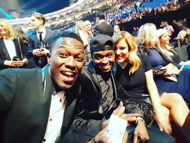 Reggie N Bollie and Caroline Flack at the National Television Awards