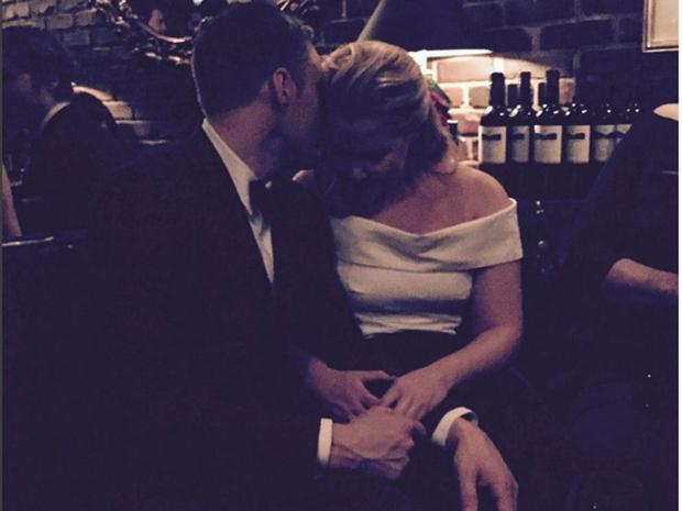 Amy Schumer and Ben Hanisch share a tender moment